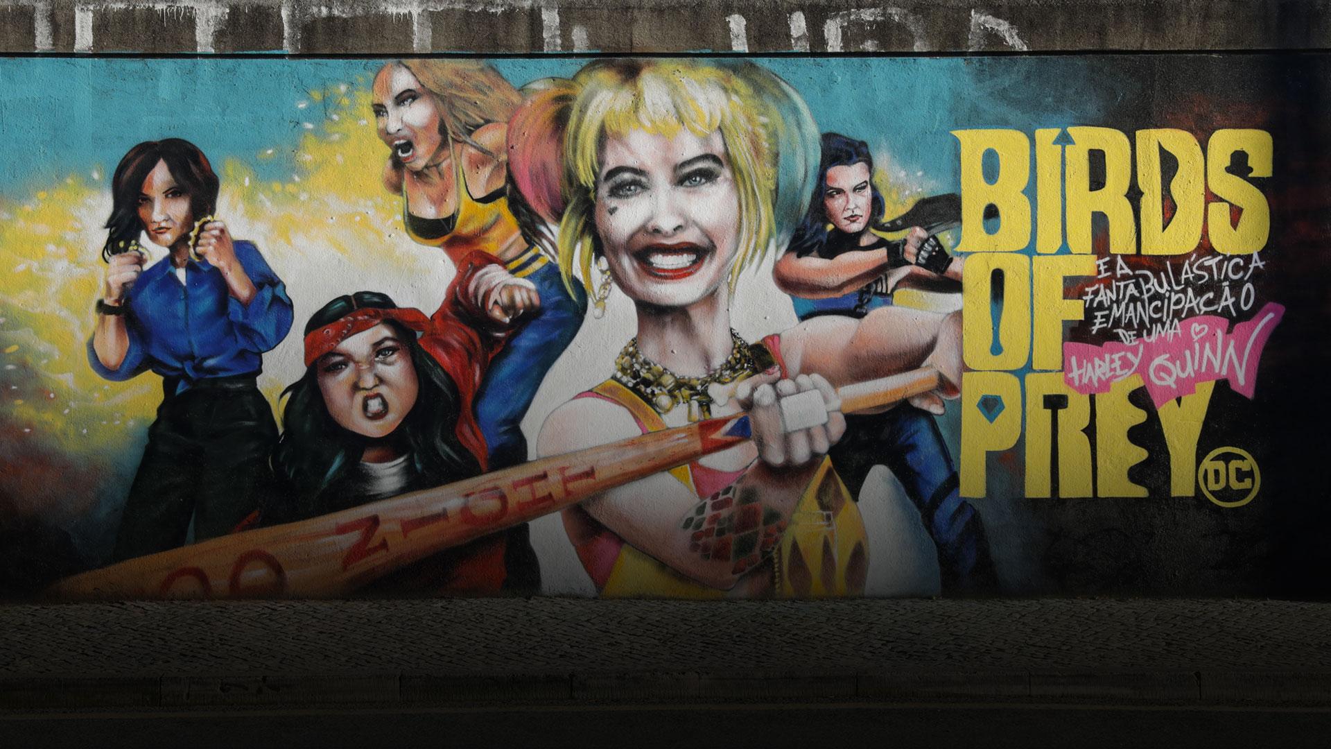 A Harley Quinn chegou às paredes de Lisboa